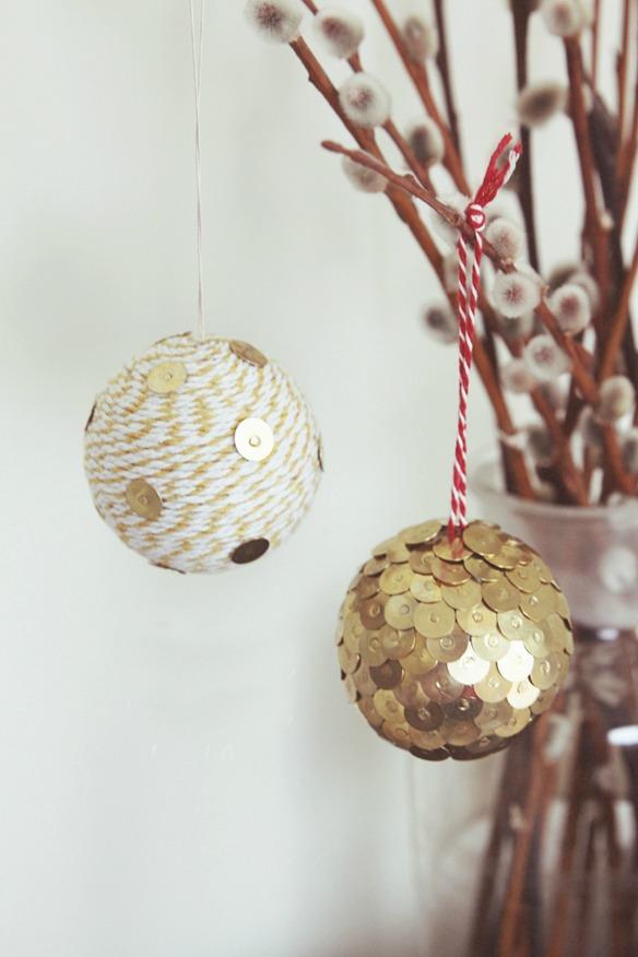 zelf kerstballen maken