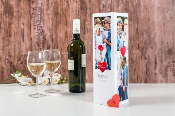 Valentijnscadeau voor hem - cadeaudoos voor wijn