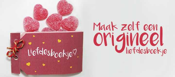 Liefdesboekje zelf maken – DIY Valentijnsidee