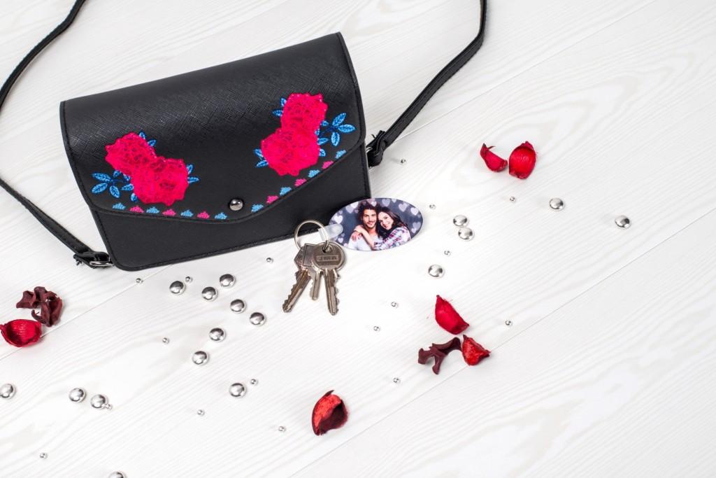 Valentijnscadeau voor hem - Gepersonaliseerde sleutelhanger