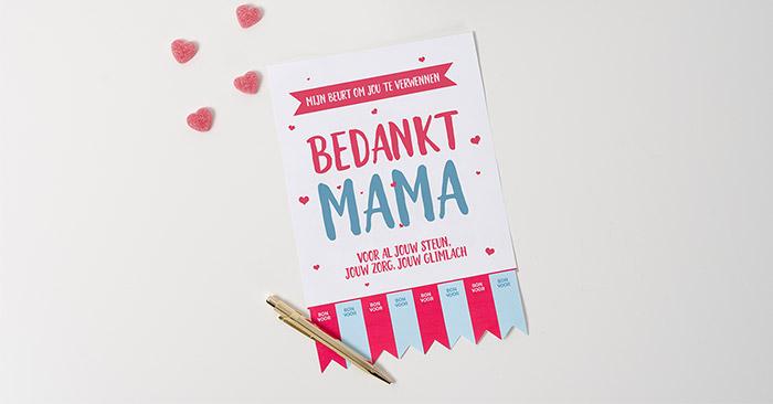 cadeau voor moederdag om zelf te maken