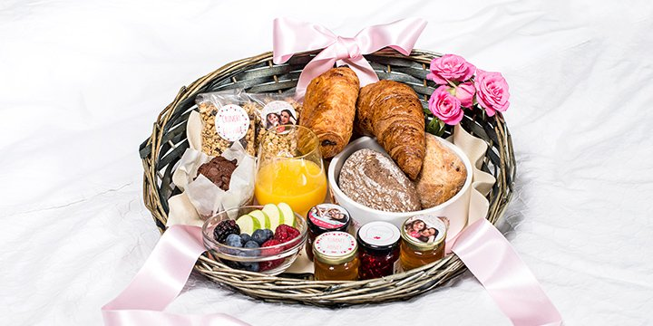 Ontbijtmand voor Moederdag