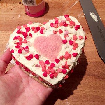 chocolade in hartvorm - resultaat