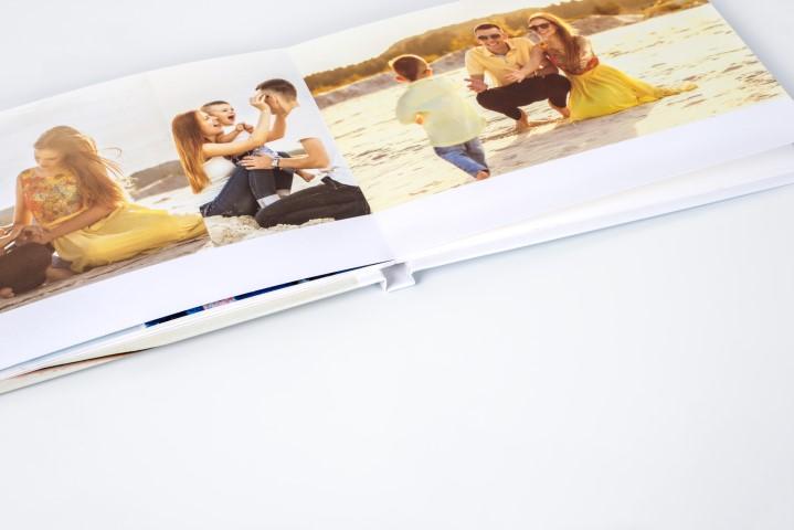 Fotoboek met platliggende binding