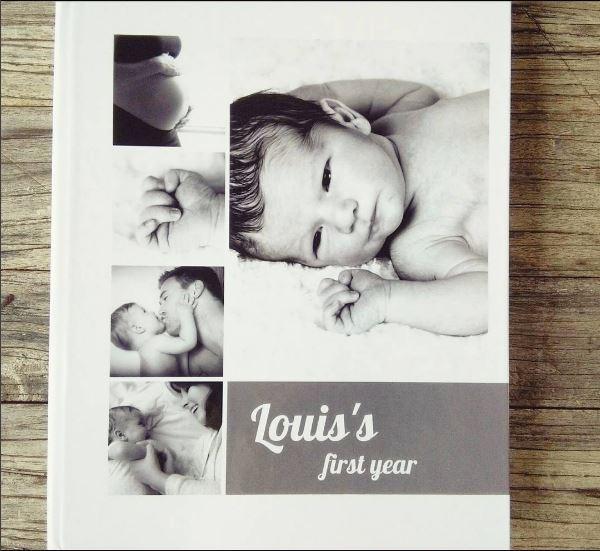 hoe mooi fotoboek maken - jaarboek baby