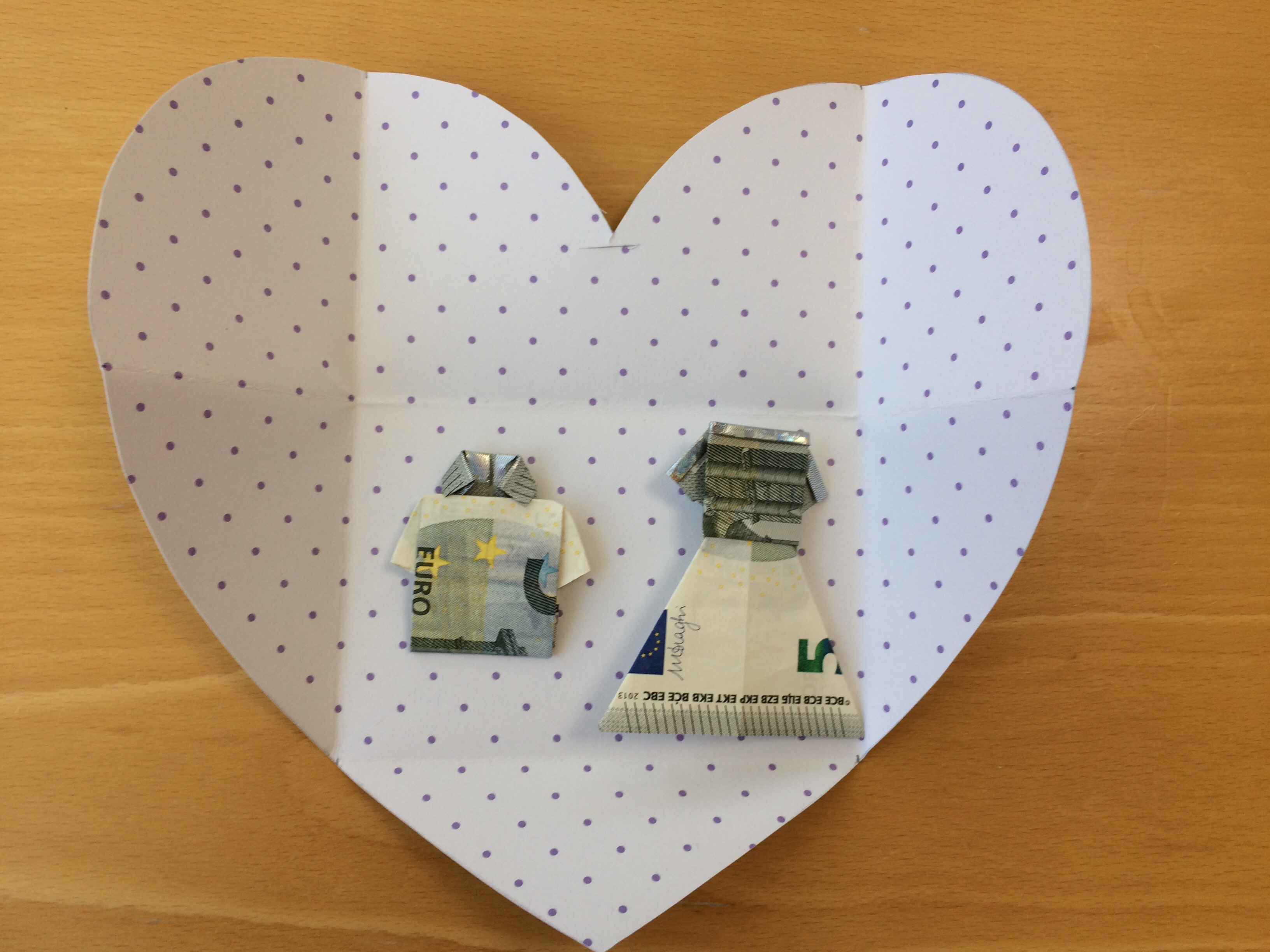 Origineel Geld Cadeau Geven Diy Hartvormige Enveloppe