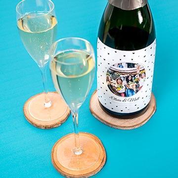 vrijgezellen vrouwen - champagne met flesetiket