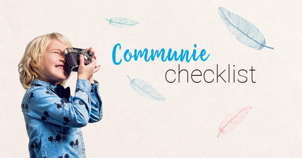 communie en lentefeest checklist