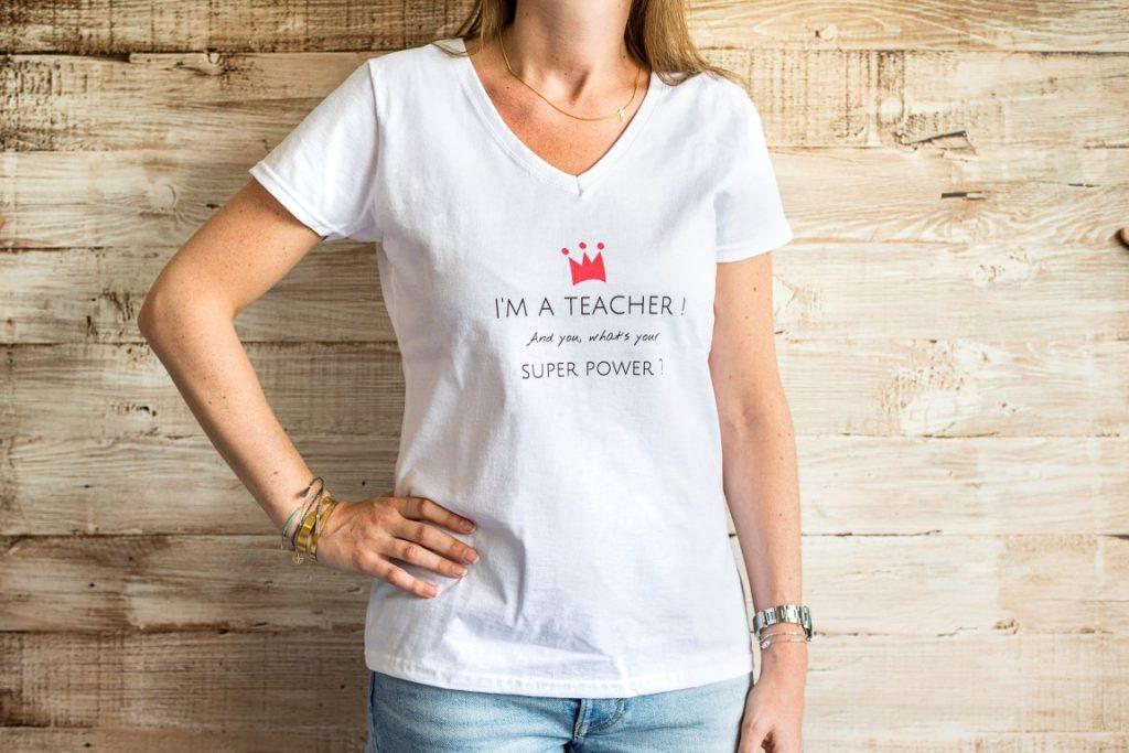 t-shirt met quote om juf te bedanken