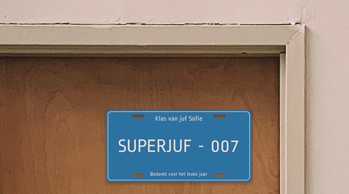 Naamplaatje: Superjuf - 007