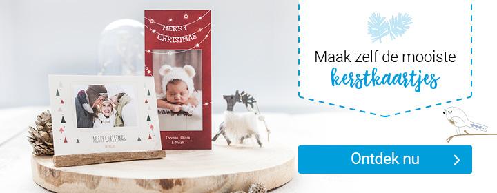 zelf kerstkaarten maken met foto en tekst