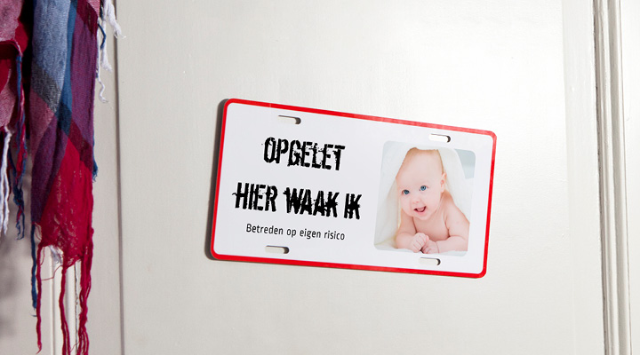 naamplaat baby aankondiging