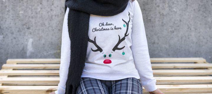 Zo maak je jouw eigen kersttrui!