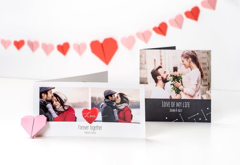 Valentijnsdag ideeën – gepersonaliseerde fotokaart