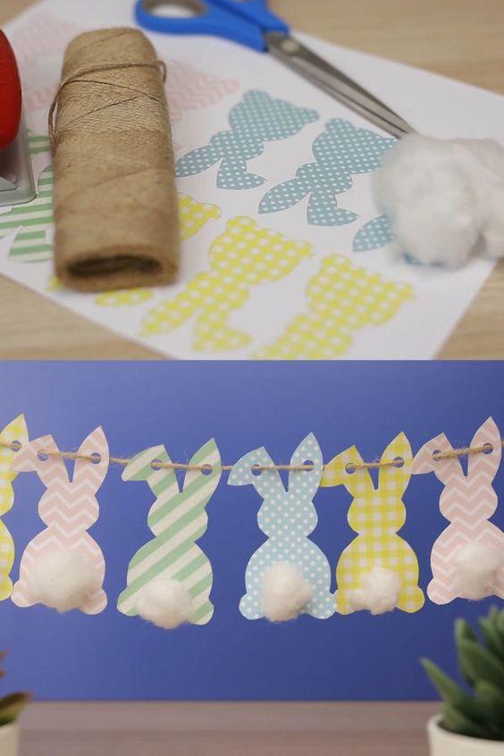 paasdecoratie ideetjes konijn
