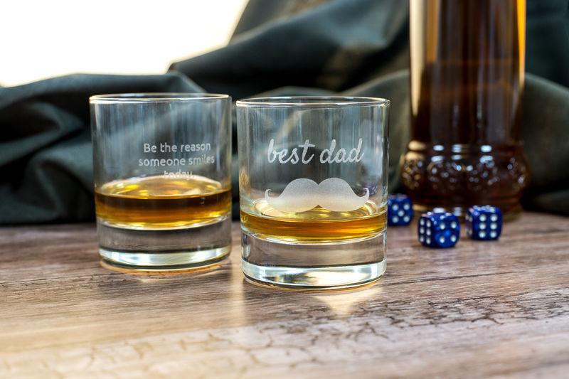 Vaderdag cadeau: Gegraveerde glazen