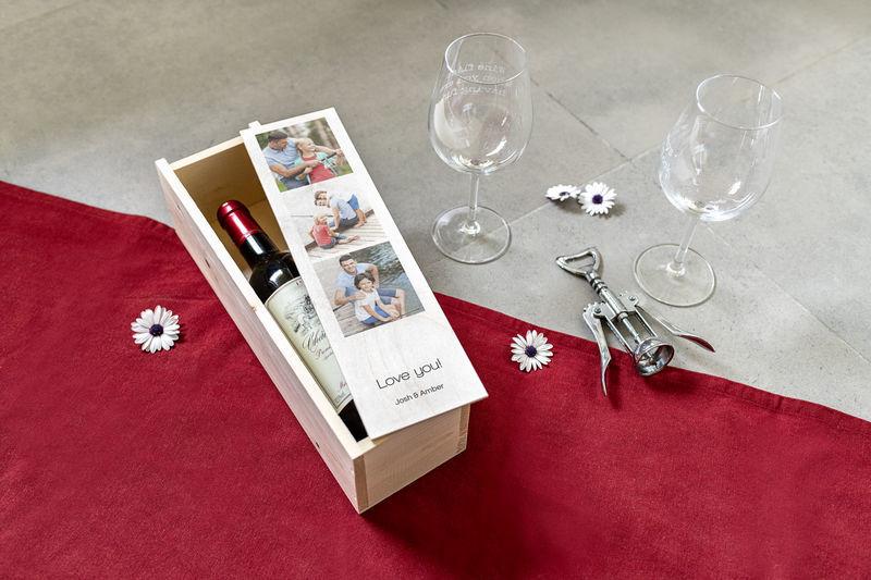 Vaderdag cadeau: Houten wijnkist