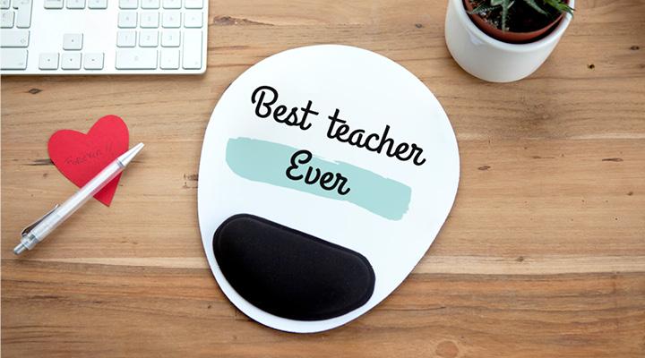 """Ergonomische muismat: """"Best teacher ever"""""""
