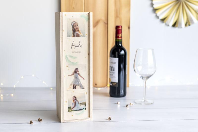 Houten wijnkist voor meester