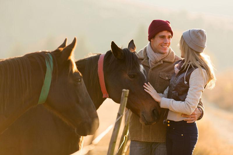 Koppel en twee paarden