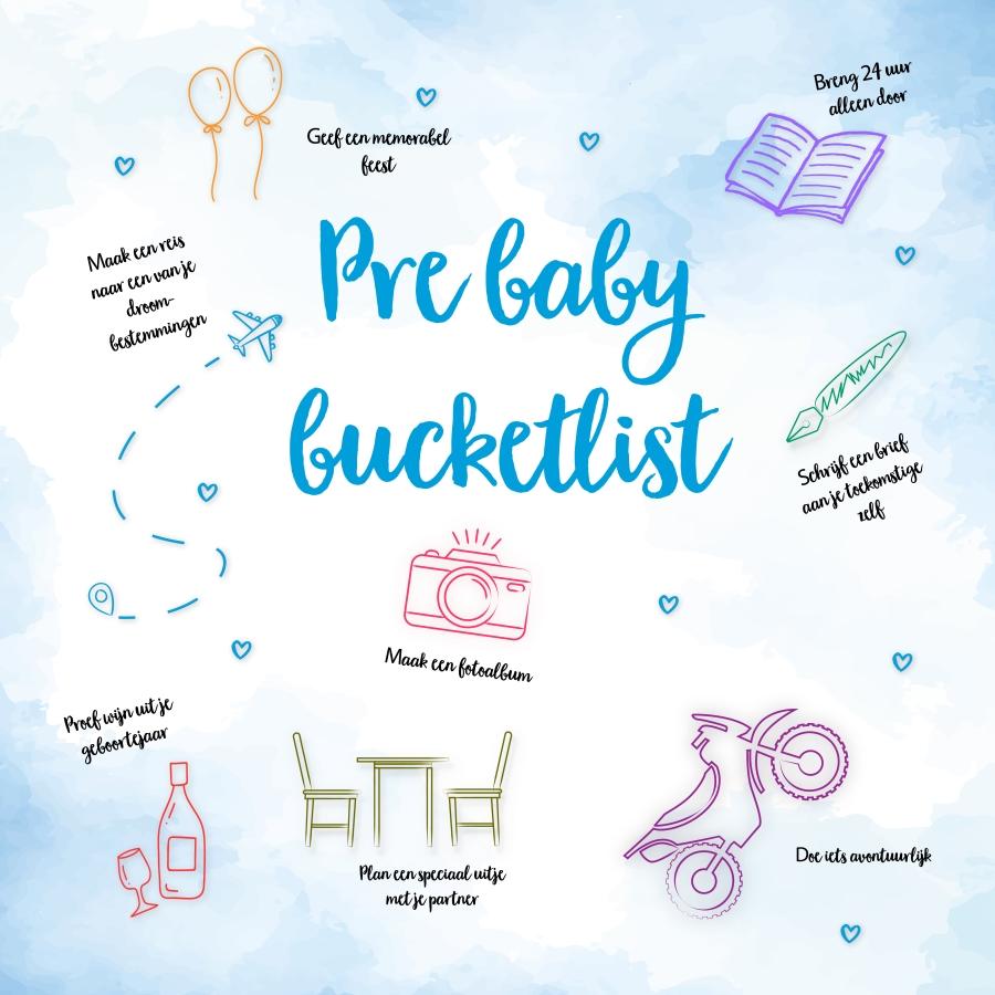 Pré baby bucketlist