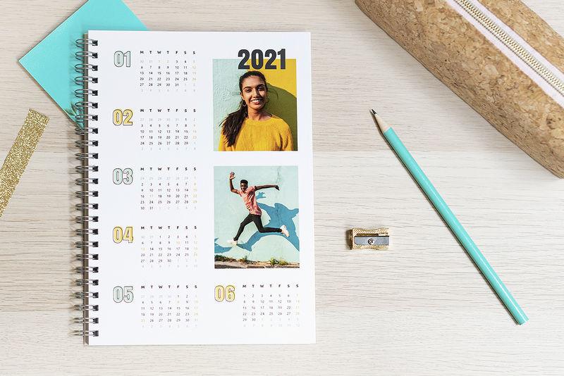 Fotoschrift met kalender voor 2021 maken