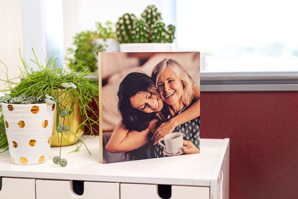 Idée cadeau de dernière minute personnalisé  - photo bloc bois