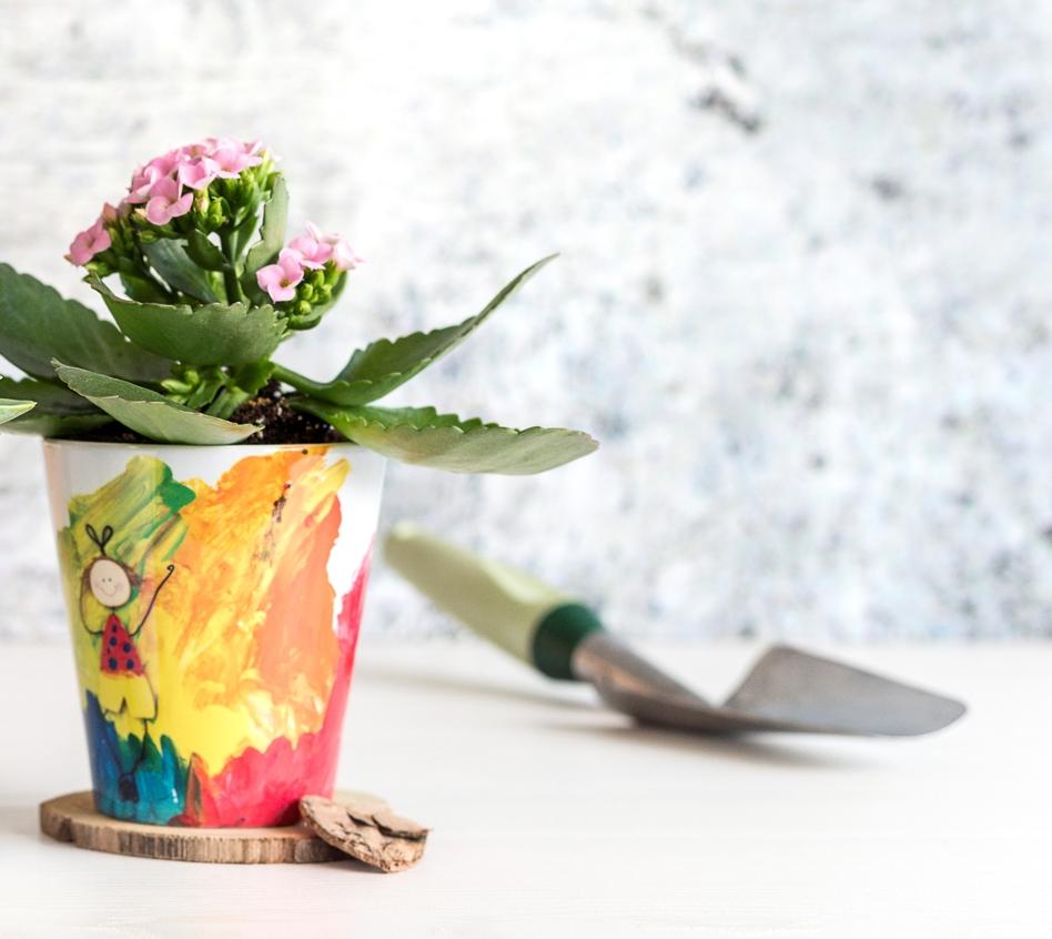 Idée cadeau de dernière minute personnalisé pot de fleurs en céramique avec photo