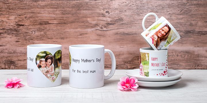 Personalised pair of mugs and espresso set for Mother's Day