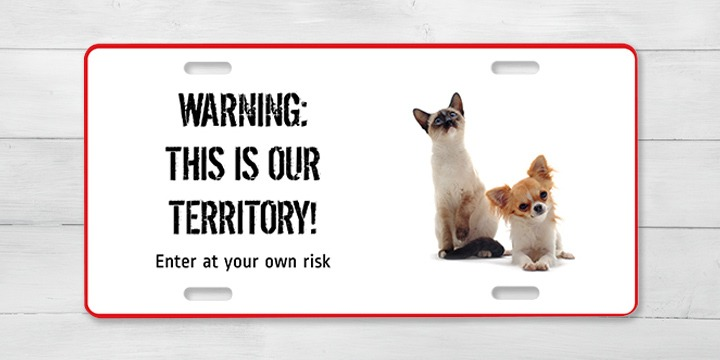 Nameplate: warning, this is our territory