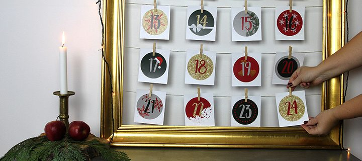 DIY – How to make an Advent calendar with your photos!