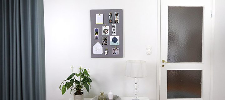 DIY VIDEO – How to make a DIY Noticeboard from a photo canvas!