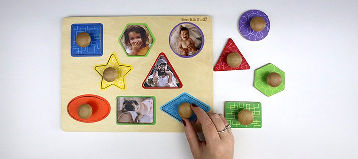 VIDEO DIY PROJECT – from wooden peg puzzle to photo puzzle in minutes!