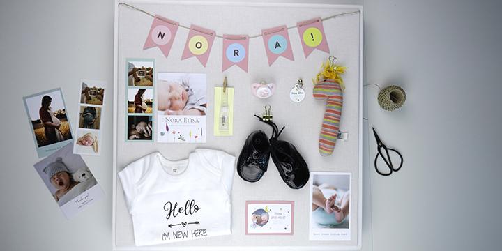 Personalisierter Erinnerungsrahmen Baby