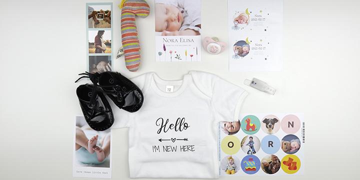 Benötigte Utensilien Baby Erinnerungsrahmen