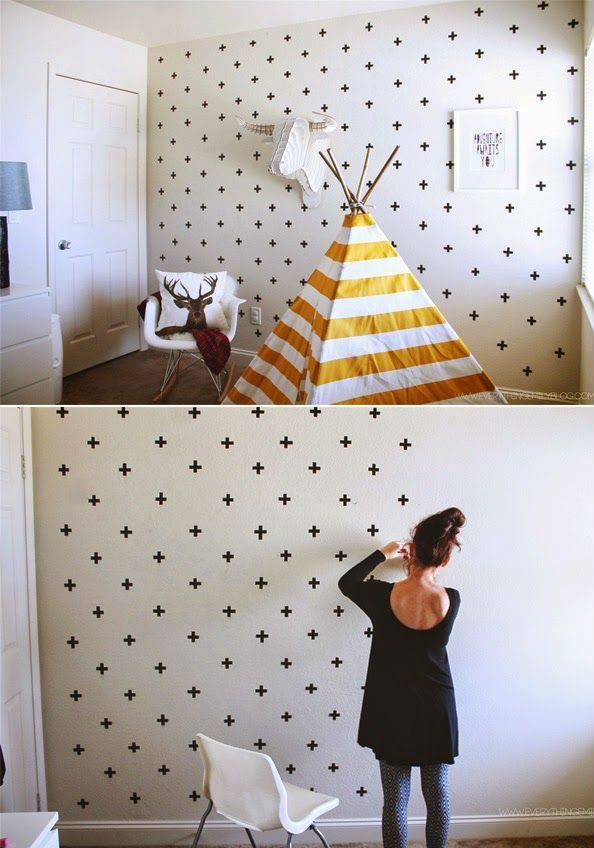 Bon Une Décoration Pas Chère : Le « Masking Tape » DIY Déco Murale Personnalisée
