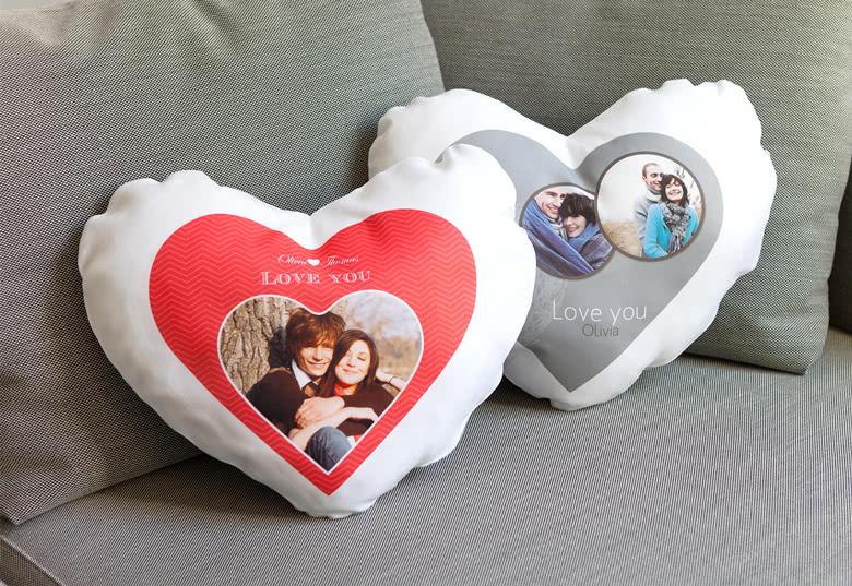 cadeau saint-valentin homme / coussin-coeur