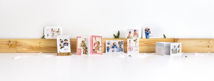 Plusieurs exemples de faire-part de communion - différents designs et formats