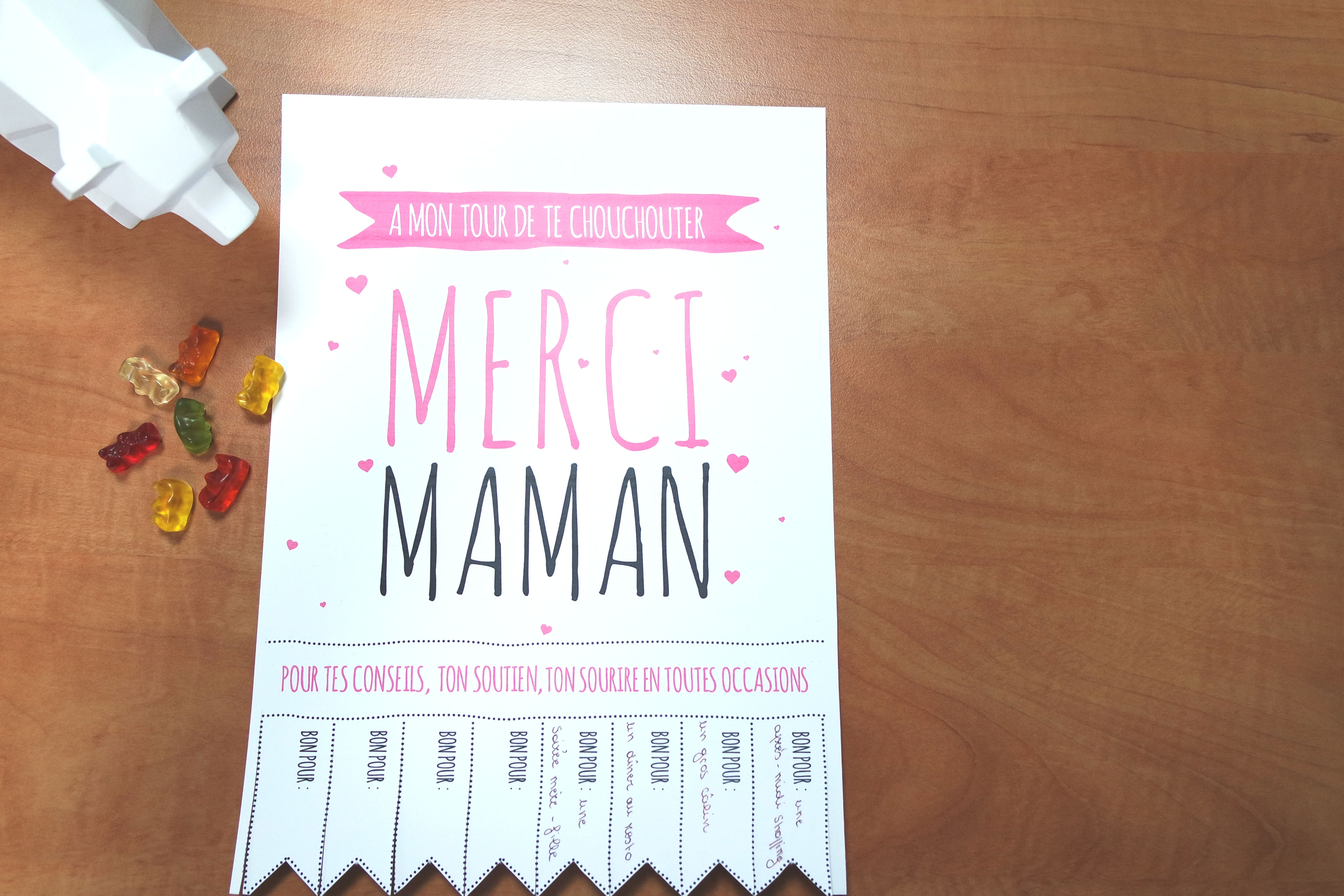 idée cadeau pour maman DIY fête des mères