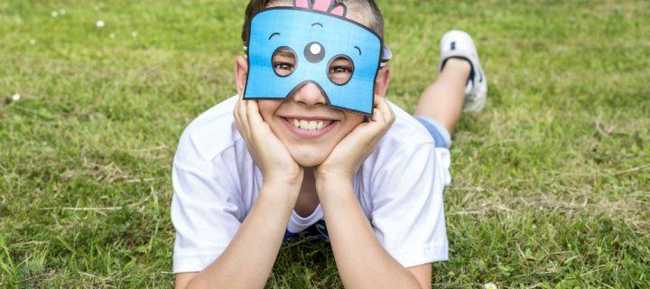 Activité fête d'anniversaire : masque enfant à faire soi-même