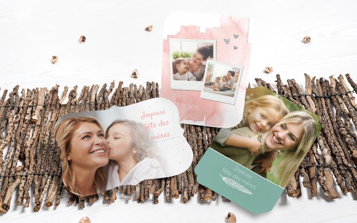 Carte fête des mères originale - photo, format original, design fête des mères