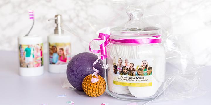 Cadeau collectif pour institutrice instituteur: set de produits pour la Salle de Bain