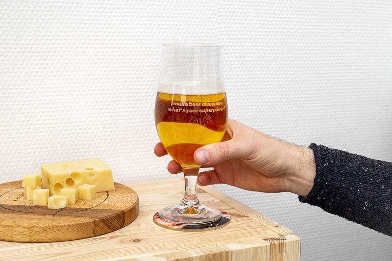Verre a bière personnalisé - verre sur pied avec gravure