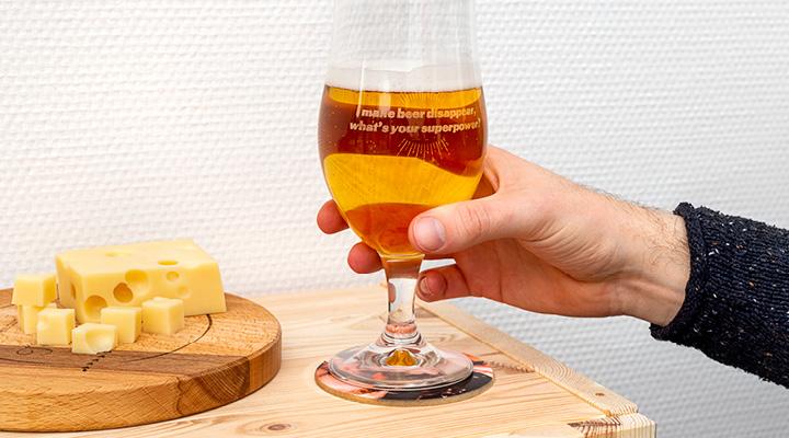 Idée cadeau original pour Noel - verre sà bière personnalisés