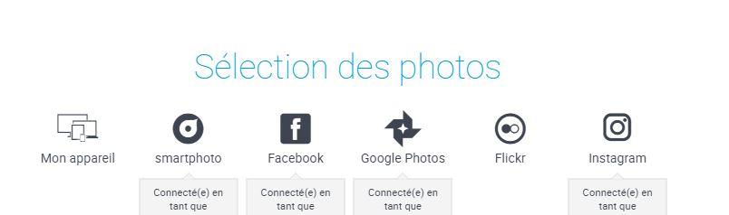 Visuel des options de chargement disponible pour ajouter des photos à un produit