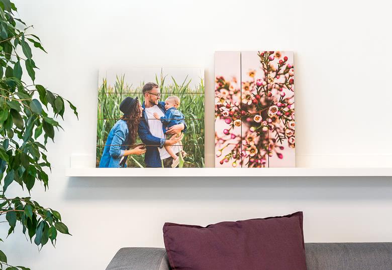 Photo imprimée sur planches en bois: exemples