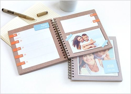 Rentrée relax : Agenda personnalisé smartphoto, avec 2 pages par semaine et vos photos préférées.