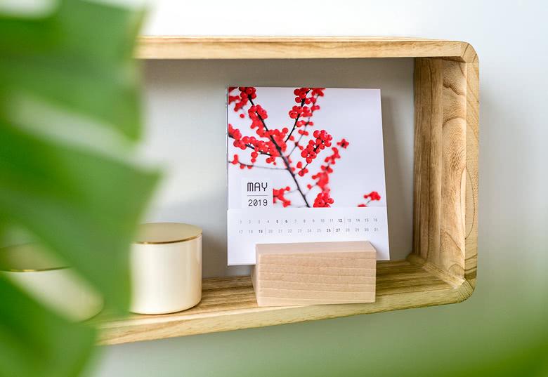 calendrier avec support en bois - cadeau de dernière minute