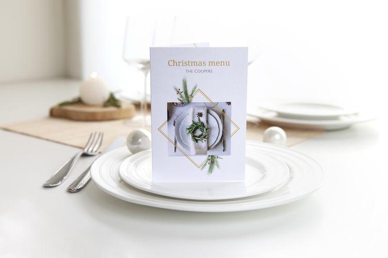 carte menus - menus de Noël