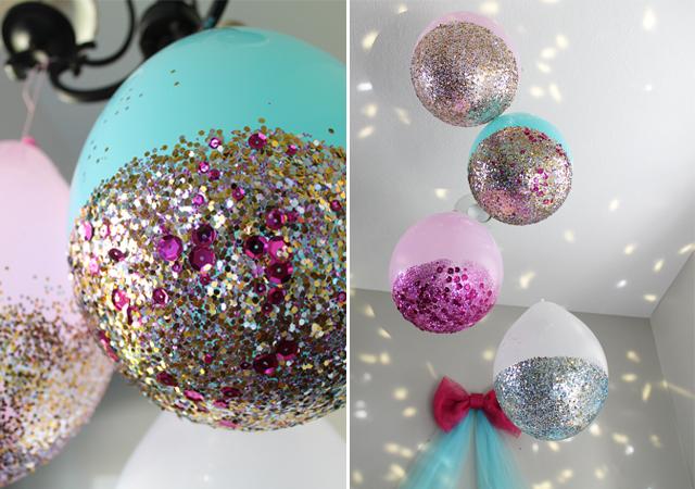 ballons de paillettes